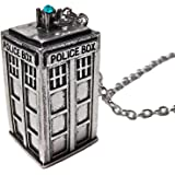 Charm Buddy Ladies Mens Doctor Who Dr Who 3D Tardis Pendant Necklace with Gift Pouch