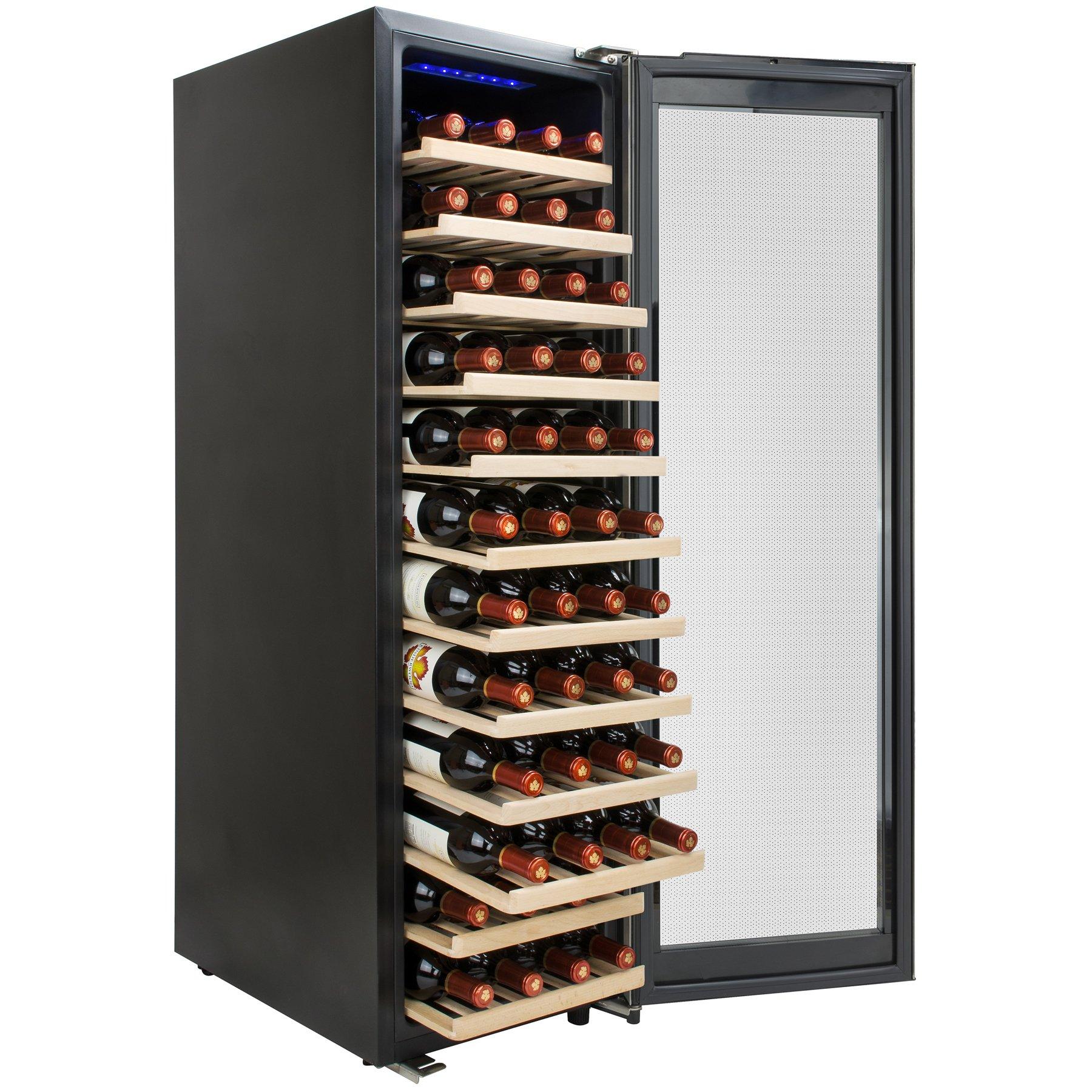 AKDY 58 Bottles Single Zone Compressor Within Freestanding Wine Cooler Refrigerator