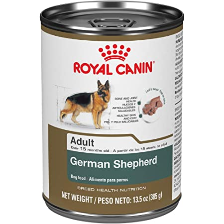 Royal Canin Breed Health Nutrition German Shepherd Loaf In Sauce Dog Food, 13.5 Oz: Pet Supplies: Amazon.com