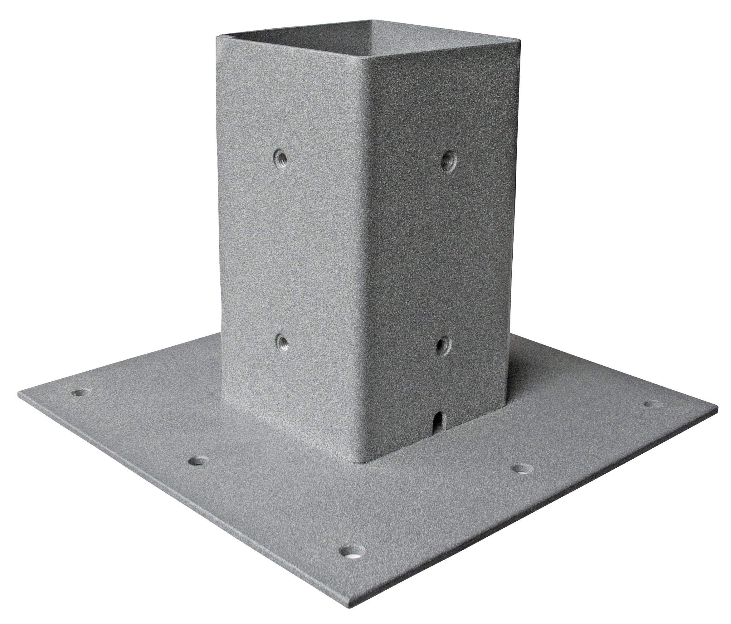 Mail Boss 7156 Surface Mount Post Base Plate, Granite (Renewed) by Mail Boss