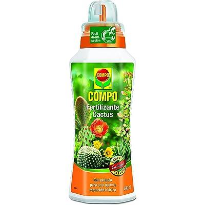 Compo Cactus, Plantas crasas y suculentas, Fertilizante líquido con Extra de potasio, 500 ml, 23x7x6.3 cm