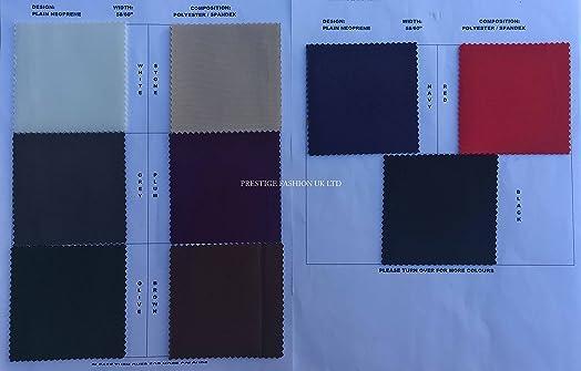 Red FS161 Blue Green Grey Comic  Print on High Quality Jersey Scuba Fabric