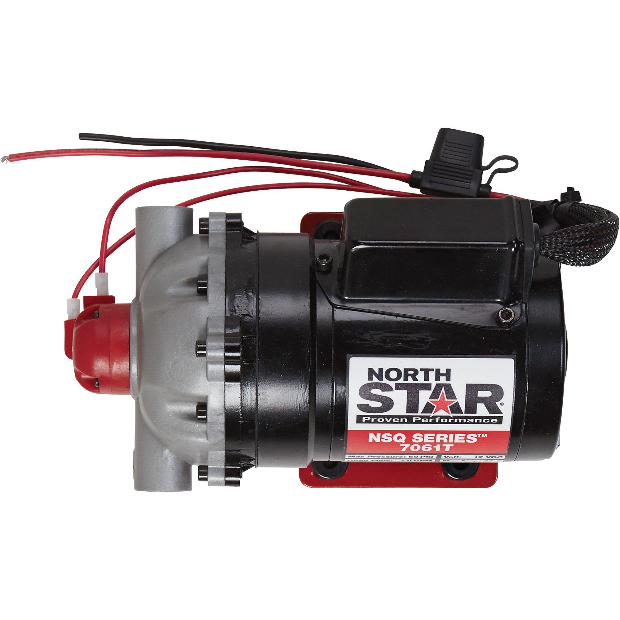 NorthStar NSQ Series 12V On-Demand Diaphragm Pump - 7 GPM, Turns Off @ 60 PSI