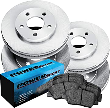 FRONT DRILLED SLOTTED BRAKE ROTORS /& CERAMIC PADS For 2004-2013 Nissan Quest