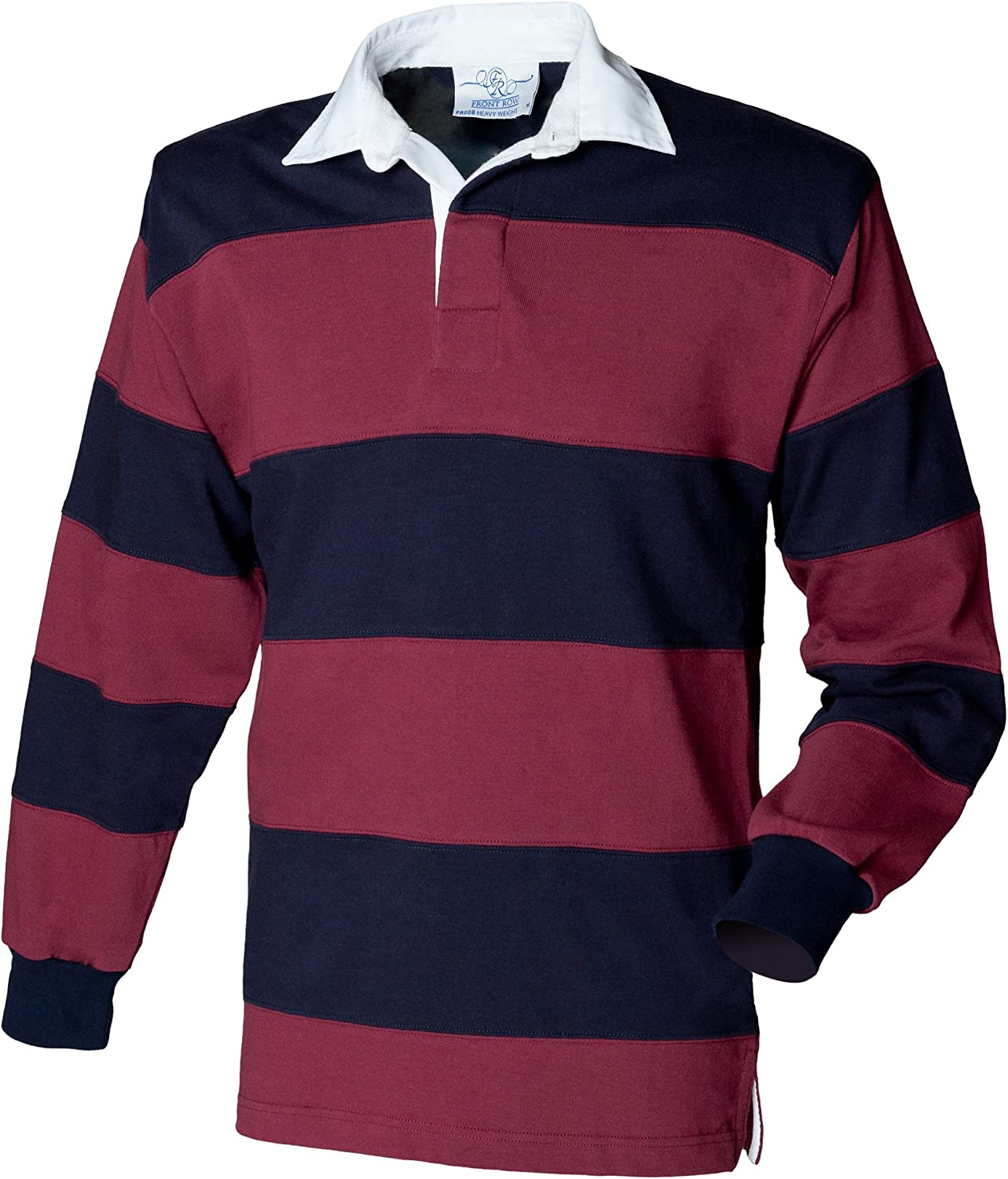 Front Row Sewn Stripe Long Sleeve Rugby Shirt