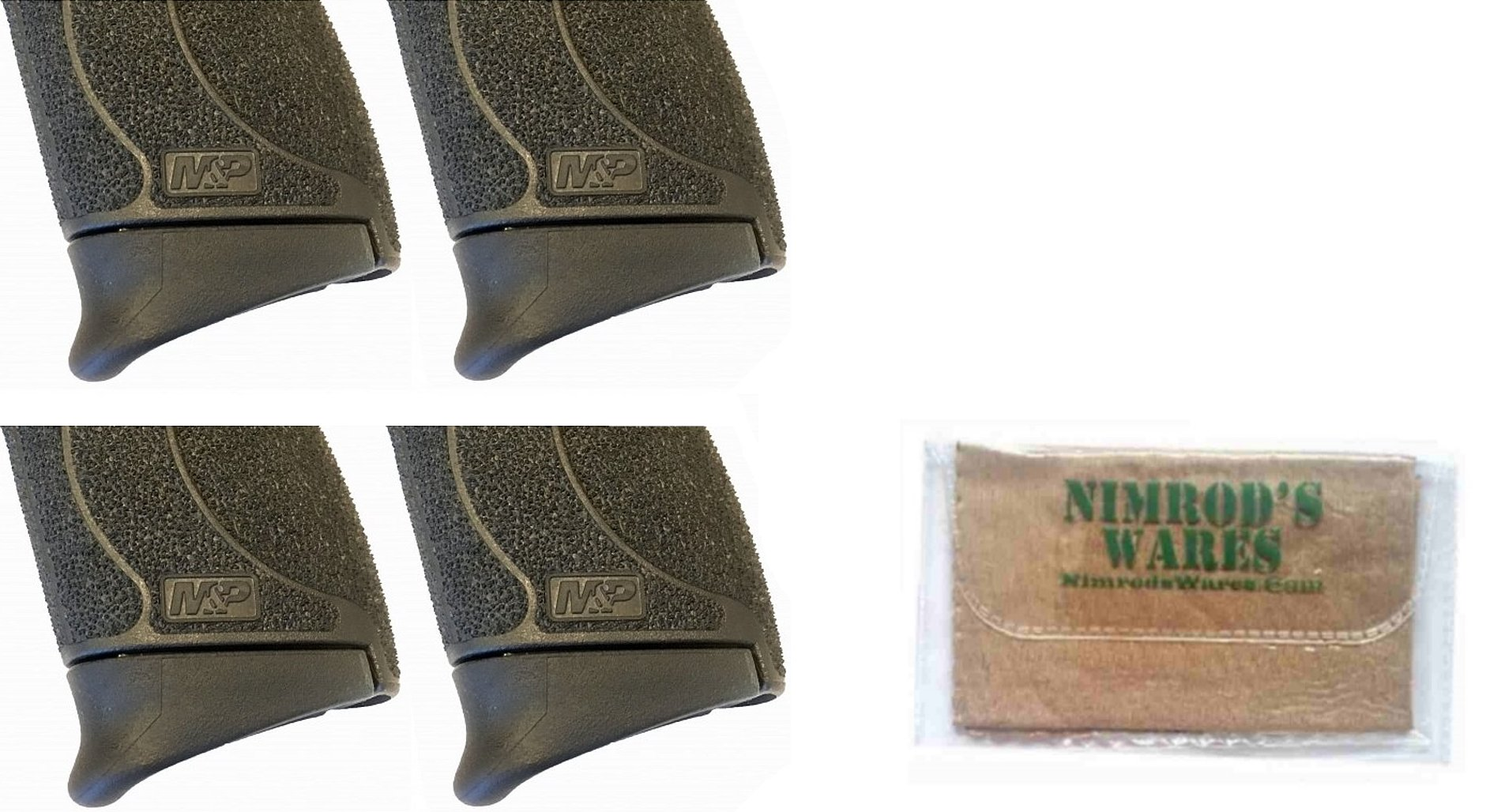 Nimrod's Wares 4-Pack Pearce Grip S&W M&P Shield 45 .45ACP Extension PG-MPS45 Microfiber Cloth by Nimrod's Wares