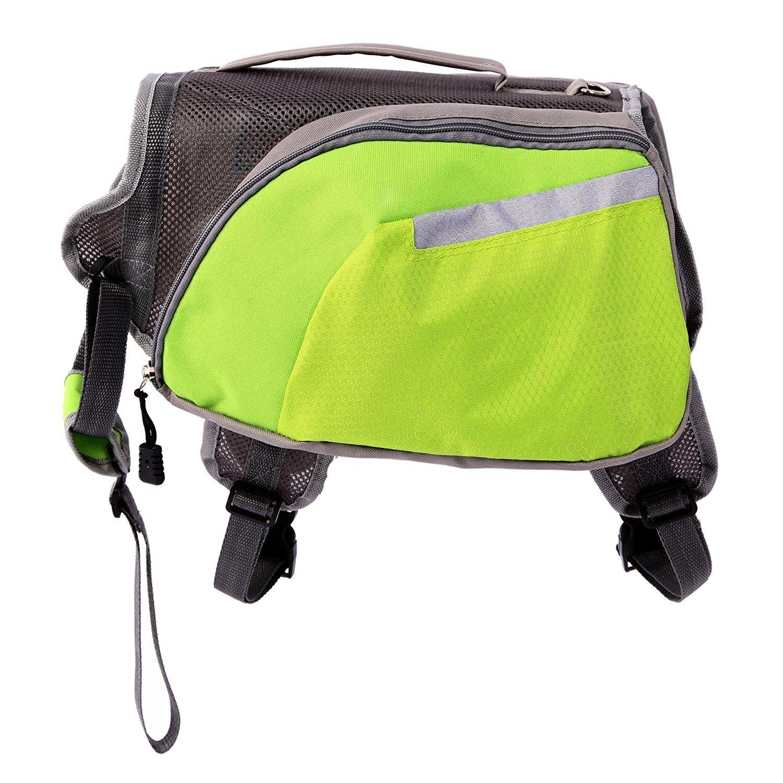 CutePaw Adjustable Dog Pack Backpack Saddlebag Harness Carrier Hound Daypack
