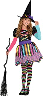 Toddler Girls Miss Matched Cute Witch Costume  sc 1 st  Amazon.com & Amazon.com: Rubies Costume Childu0027s Rainbow Witch Costume Medium ...