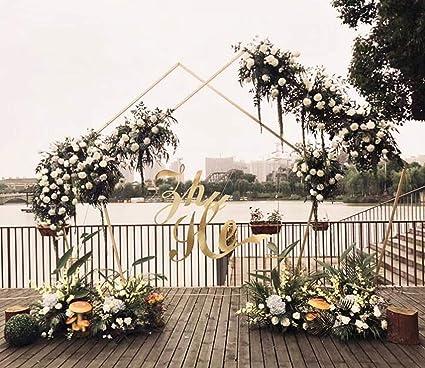Nuevos accesorios de boda hierro arte pentagonal marco geométrico arco sen departamento boda escenario fondo decoración flores, 1: Amazon.es: Hogar