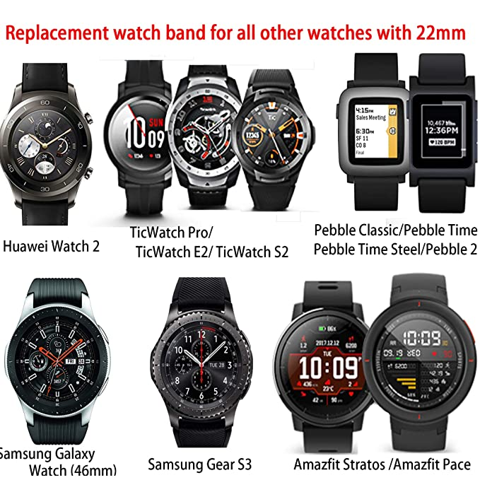 22mm Replacement Strap Compatible for Samsung Galaxy Watch 2 42mm ...