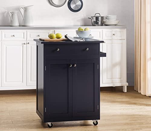 2L Lifestyle Newbury Wood Kitchen Cart, Small, Espresso