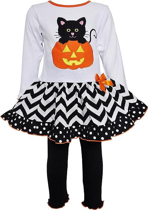 2a4408b750e9 AnnLoren Big Girls Boutique sz 9 10 Halloween Kitten in Pumpkin Dress  Clothing