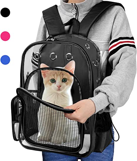 ENET Portable Backpack for Dogs Cats Outdoor Shoulder Mesh Carrier Carry Breathable Bag