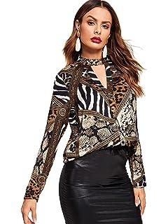 cd18b93ae3efc0 WDIRARA Women s Long Sleeve Criss Cross V Neck Soild Blouse Shirts Tops