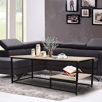 Amazon Com Dporticus Modern Coffee Table Cocktail Table Tv