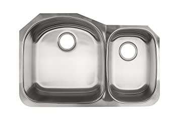 Kindred Ksdcru 9 Undermount Double Bowl Stainless Steel Kitchen Sink Silk