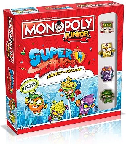 Monopoly Junior SuperZings - Juego de Mesa - Versión en español: Amazon.es: Juguetes y juegos