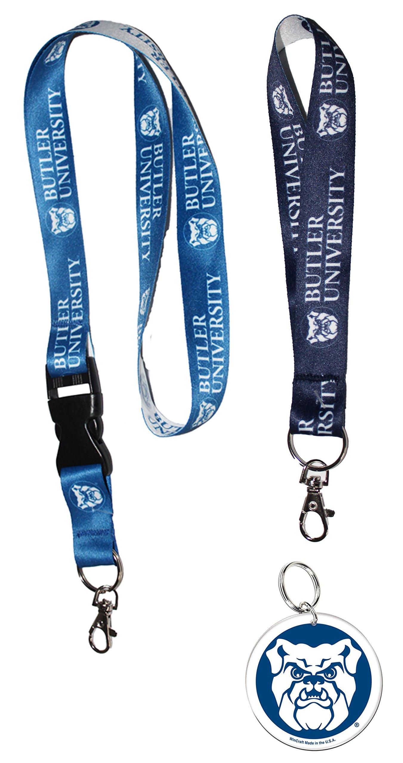 WinCraft Butler University Lanyard Triple Gift Set 1 Premium Lanyard, 1 Key Strap, and 1 Key Ring