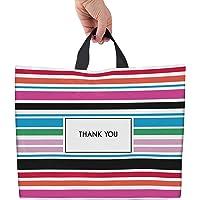 Bolsas de plástico de rayas de agradecimiento para negocios, de 30,5 x 38,1 cm, paquete de 50 bolsas de la compra para…
