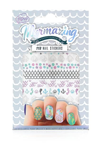 Buy Npw Usa Mermaid 118 Piece Nail Stickers Online At Low Prices In