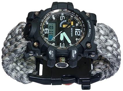 Amazon.com: Supervivencia Paracord reloj, 7-in-1 Kits de ...