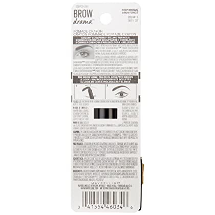 50aba86c21f ... Maybelline New York Eyestudio Brow Drama Pomade Crayon Eye Color, Deep  Brown, ...
