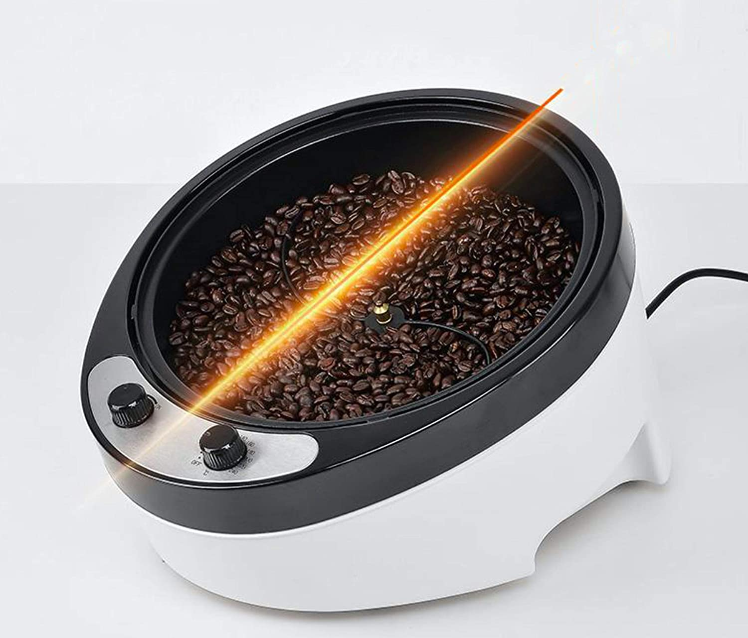 Coffee Roaster Machine 2000W Electric Coffee Bean Roaster Commercial Standard 900G Coffee Bean Roasting Baking Machine For Coffee Shop and Home Use, Popcorn, Peanuts, Chestnut Roaster,110V