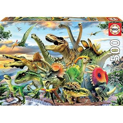 Educa Borras 17961 500 Dinosaur Puzzle, Multi-Colour: Toys & Games
