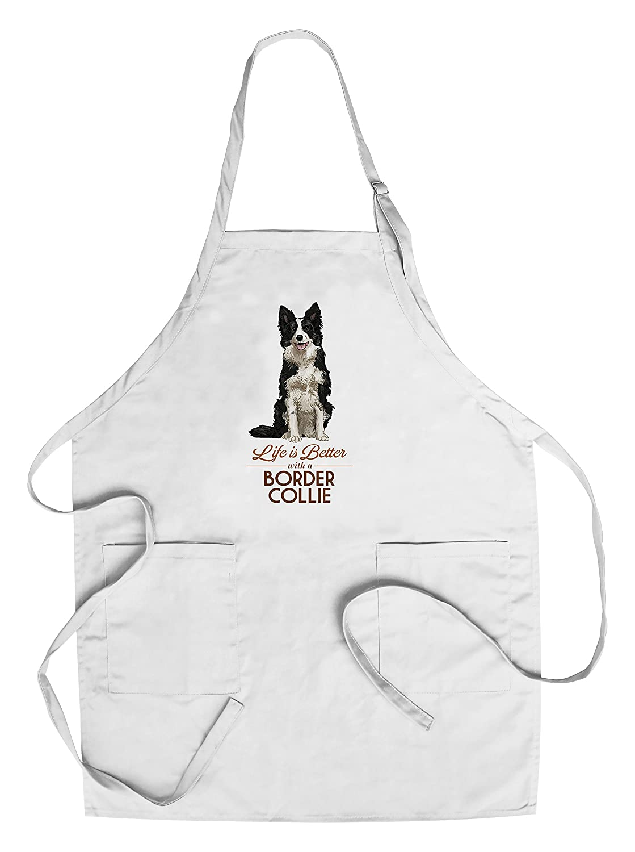 全商品オープニング価格! ボーダーコリー – Bag Life Is Apron Better – Apron ホワイト背景 Canvas Tote Bag LANT-85817-TT B07B27FWC7 Chef's Apron Chef's Apron, トータルスポーツ:e3fa338e --- vezam.lt