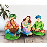 Tied Ribbons Resin Rajasthani Couple Showpiece (13.01 cm x 13.01 cm x 24.99 cm, TR-RajasthaniStatues2L002) (Multicolour)