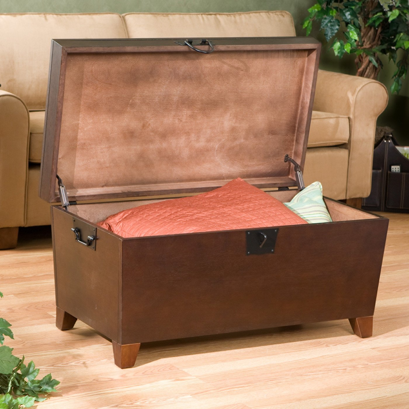 Amazon Danville Trunk Coffee Table with Lift top Espresso