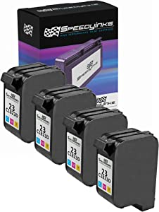 Speedy Inks Remanufactured Ink Cartridge Replacement for HP 23 (Tri-Color, 4-Pack)