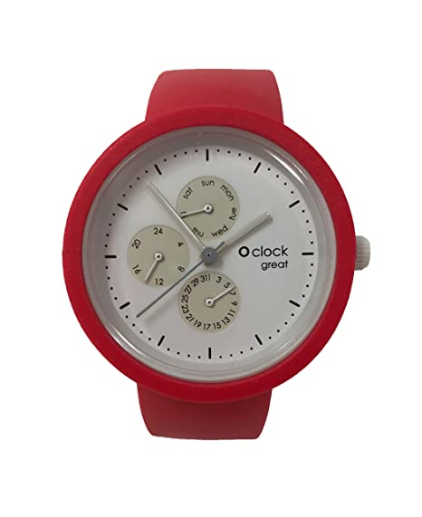 O clock Great correa Amaranto + Mecanismo o Great Fecha Blanco S Amaranto: Amazon.es: Relojes