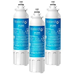 Waterdrop ADQ73613401 Refrigerator Water Filter, Compatible with LG LT800P, Kenmore 9490, ADQ73613402, LSXS26326S, LMXC23746S, LSXS26366S, 46-9490, 469490, LMXC23746D, NSF 42 Certified, Pack of 3