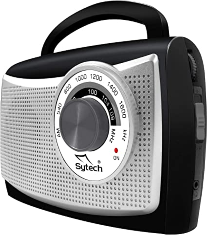 Sytech SY-1652PL Radio Am/FM Portátil, AC/DC, 500MW, Color Gris: Amazon.es: Electrónica