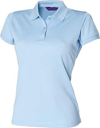 Henbury- Polo ajustado Coolplus® para mujer: Amazon.es: Ropa y ...
