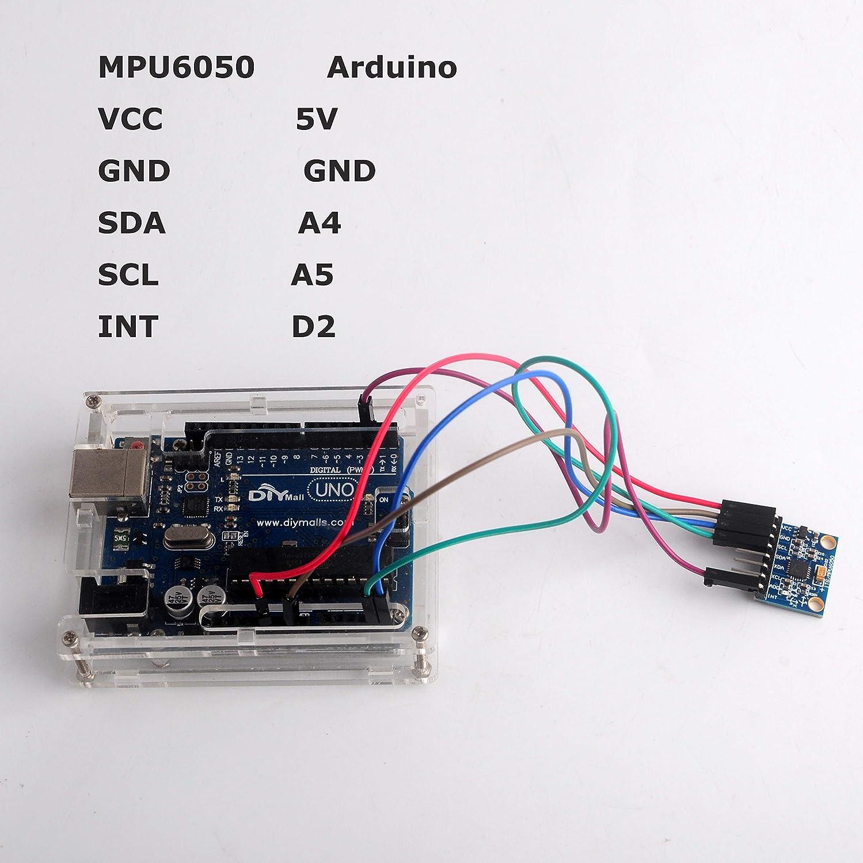 MPU-6050 Sensor giroscopio acelerómetro 6DOF de Seis Ejes IMU para ...