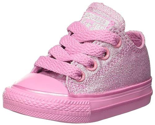 Converse Chuck Taylor CTAS Ox Cotton, Zapatillas de Estar por casa Bebé Unisex, Rosa (Light Orchid/Silver 523), 20 EU: Amazon.es: Zapatos y complementos