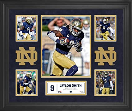 "49af0177e89 Jaylon Smith Notre Dame Fighting Irish Framed 20"" x 24"" 5-Photo  Collage"