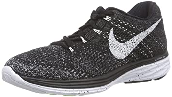 official photos ec97c 0bb5c Nike Womens Flyknit Lunar3 Black White Mdnght Fog Wlf Gry Running Shoe 5.5
