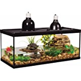 Tetra Aquatic Turtle Deluxe Kit 20 Gallons, aquarium With Filter And Heating Lamps, 30 IN (NV33230)
