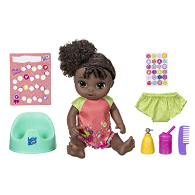 """Baby Alive Potty Dance Baby: Talking Baby Doll with Black Curly Hair, Potty, Rewards Chart, Undies and More, Doll That """"Pees"""" on Her Potty, for Girls and Boys 3 Years Old And Up: Toys & Games"""