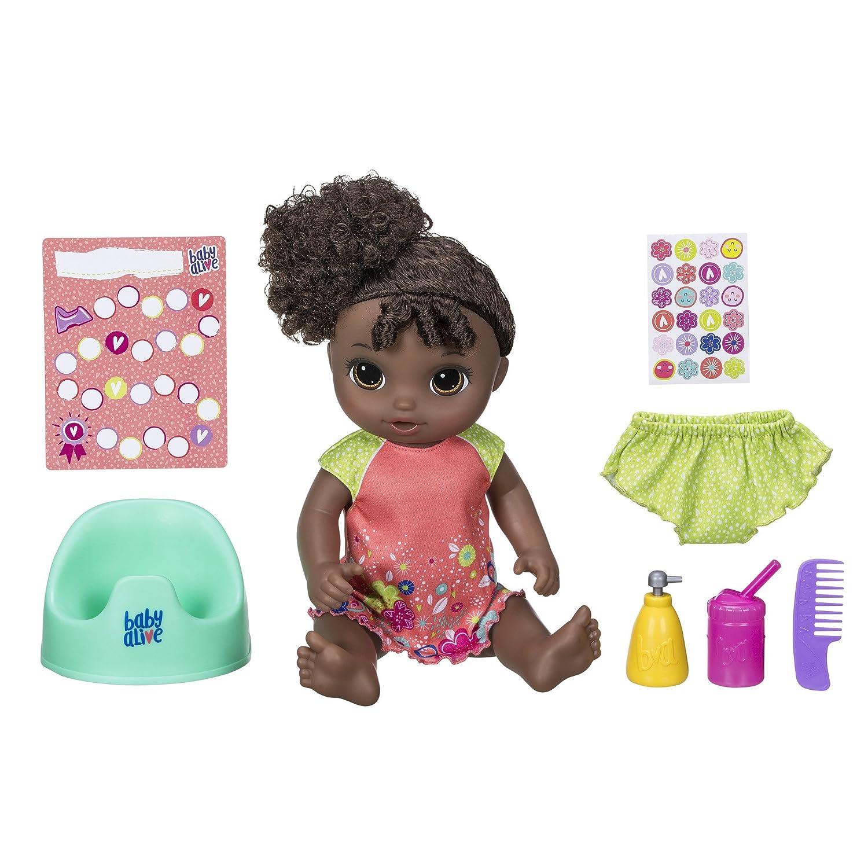 BABY ALIVE E0304C91 Potty Dance Baby (Black Curly Hair) Hasbro International