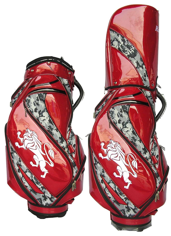 キャディバッグ カモ柄  ~ Ratoshi(ラトシ) ~ B0114O5R8U カモ柄 × バーガンディ カモ柄 × バーガンディ