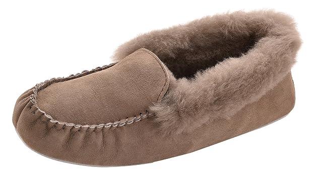 Shepherd Ladies Genuine Sheepskin Slippers Soft Sole SHEARLING Womens EMMY UK