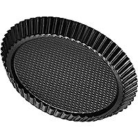 Zenker Z6521 Non-Stick Carbon Steel Flan/Tart Pan, 11-Inch Gray