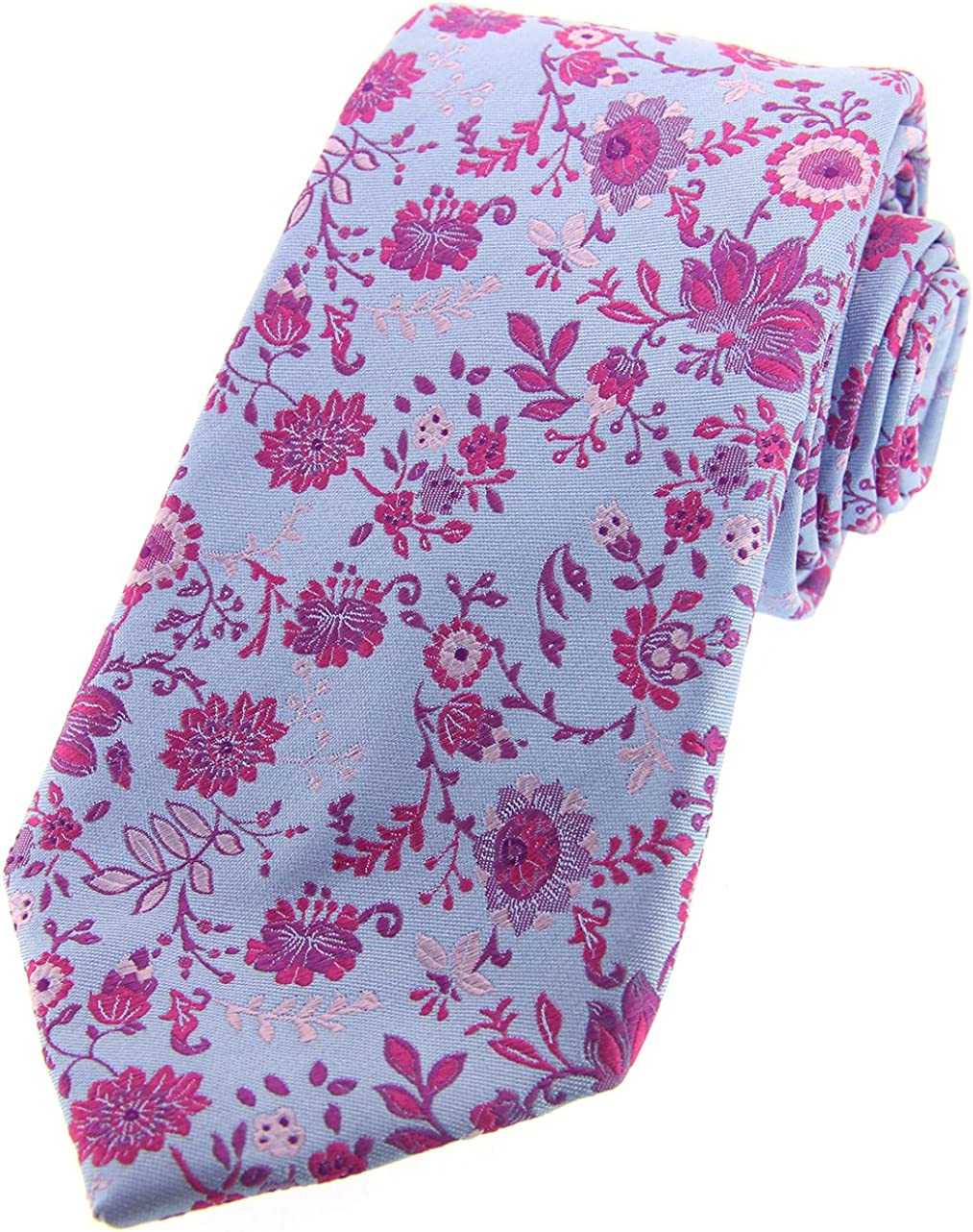 Soprano Posh & Dandy azul morado y rosa flores lujo Seda Corbata ...