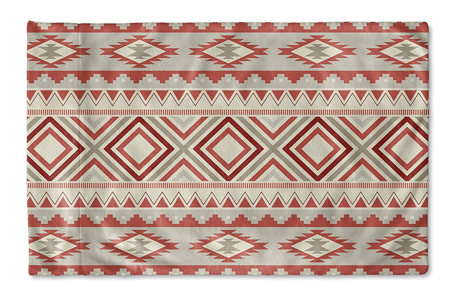 KAVKA Designs Navajo Red Pillow Case, MGTAVC2014PC32 Red//Tan//Ivory Size: 30X20X1 - - NAVAJO Collection