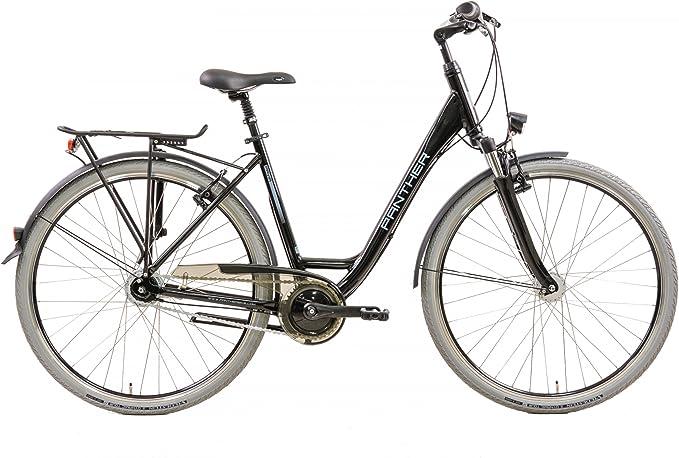Panther City Bike Mujer Pavía, 28 Pulgadas, 8 velocidades, Freno ...