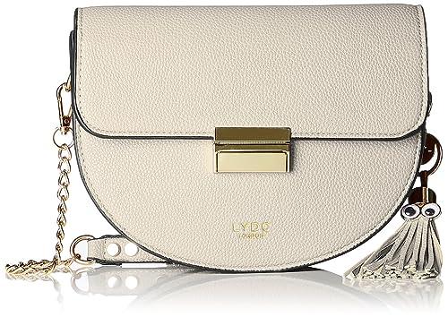 5076c1ef2e Lydc London G1824, sac bandoulière femme - Blanc - Blanc (White 000 ...